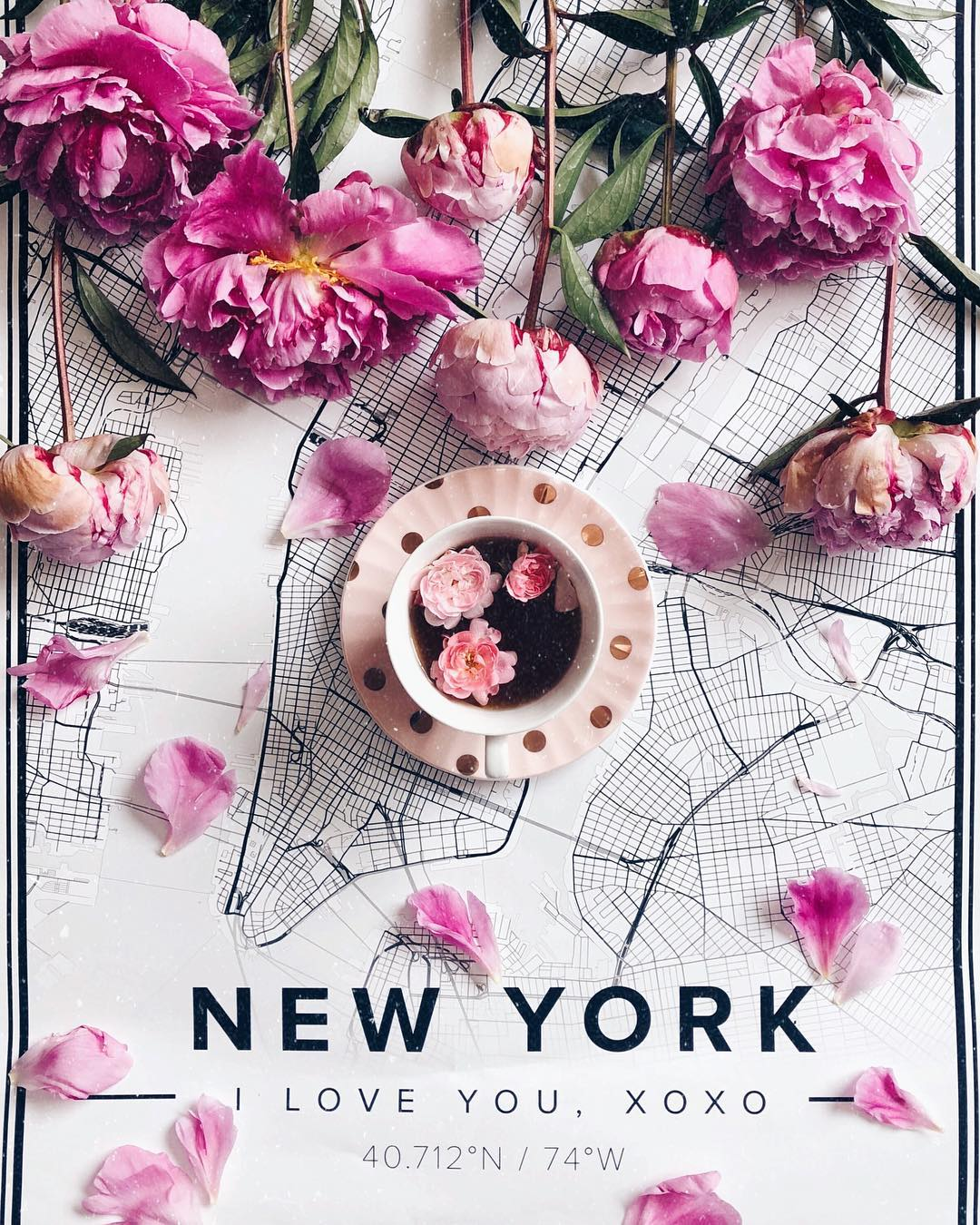 Beautiful Map Poster Of New York 70x100cm Mapiful